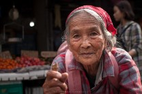 This elderly woman is regularly seen around the public market in Baguio City as she asks for alms from the public.