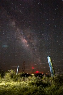 A scene of starry night with the Milky Way clearly seen at the heights of Mounta Cabuyao, located at the borders of Tuba in Benguet and Baguio City.