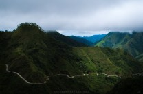 The zig-zag roads of the municipality of Cervantes as seen from the heights of Besang Pass.