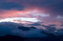 A scenic sunset view over the mountains of Mankayan, Benguet.