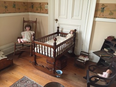 This room was decorated as a baby's room, but Mrs. Woodruff never gave birth to a child.