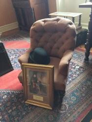 This chair belonged to Sir Arthur Conan Doyle