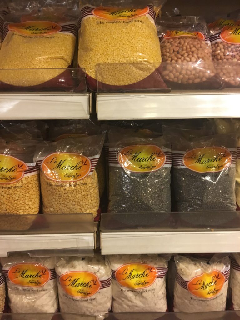 Display of lentils, known as pulses in India