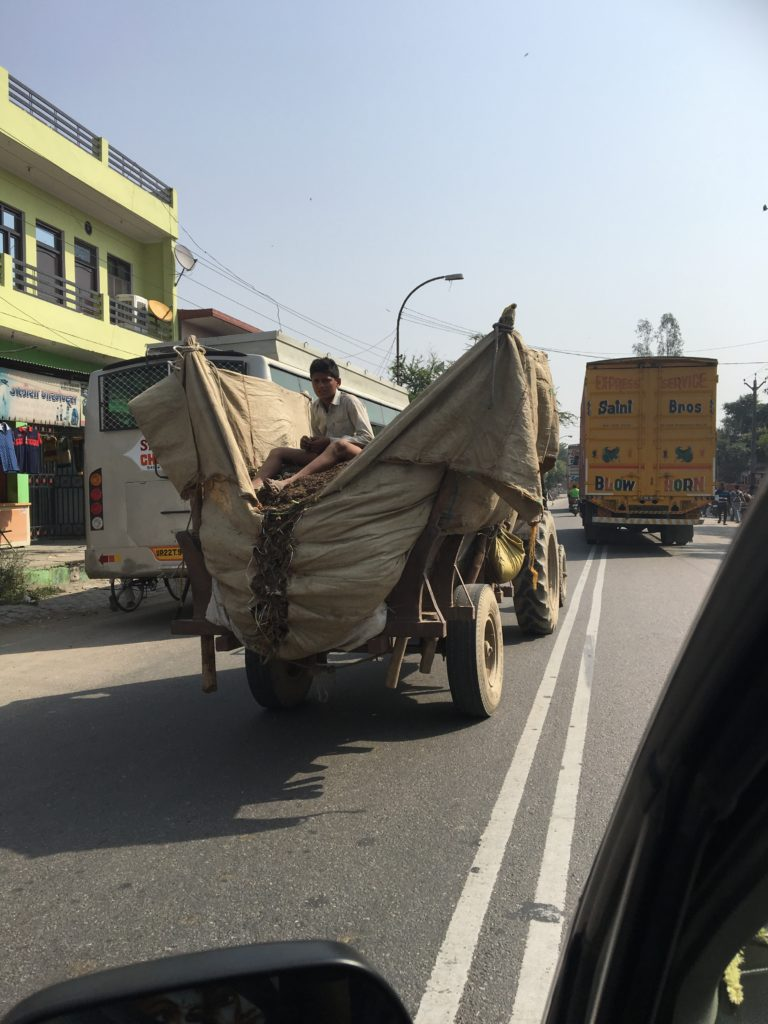 Typical site on Indian roads