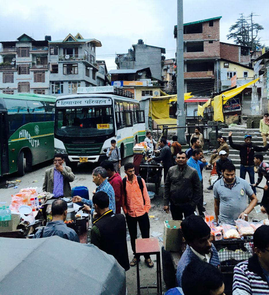 The bus station in Manali