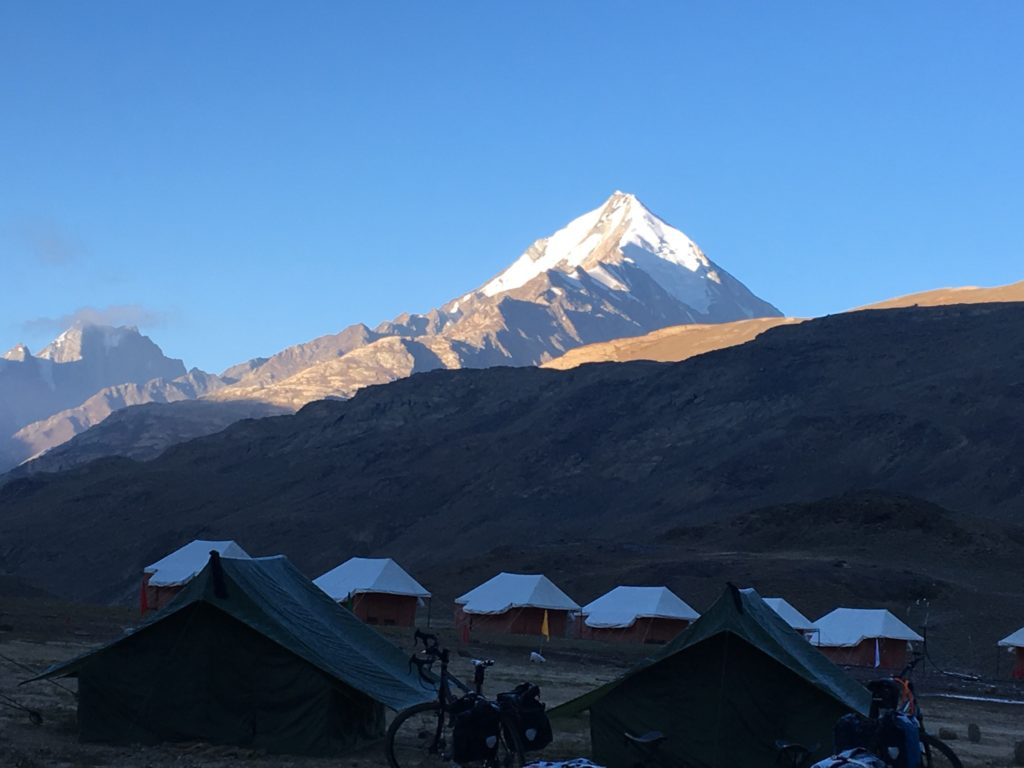 Our camp near Chandra Taal Lake