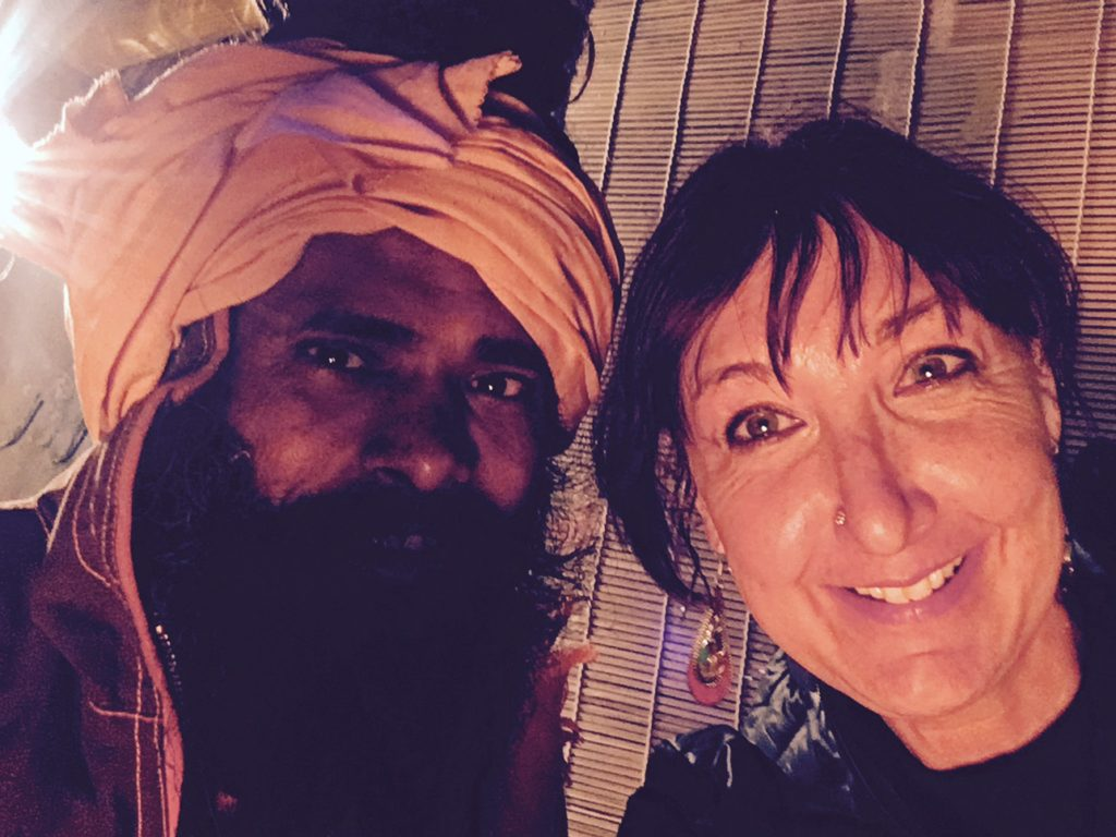 Hanging out with a baba in Rishikesh
