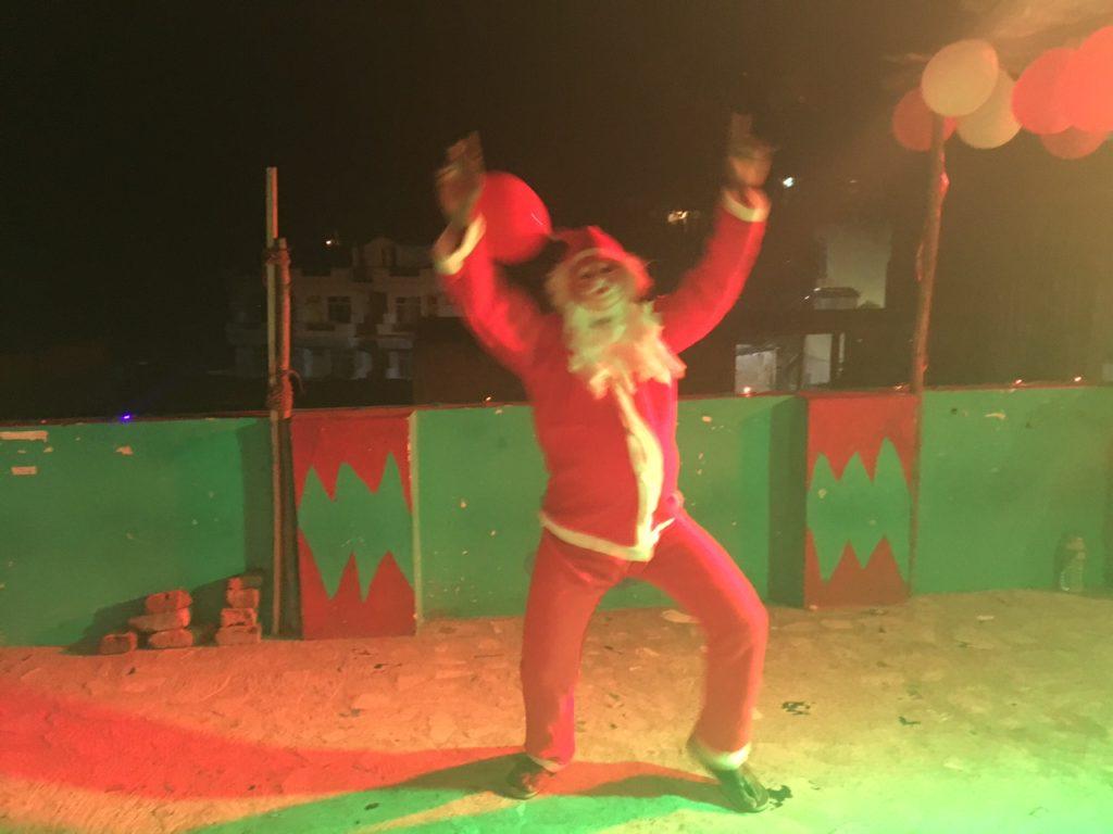 Dancing Santa Clause in India