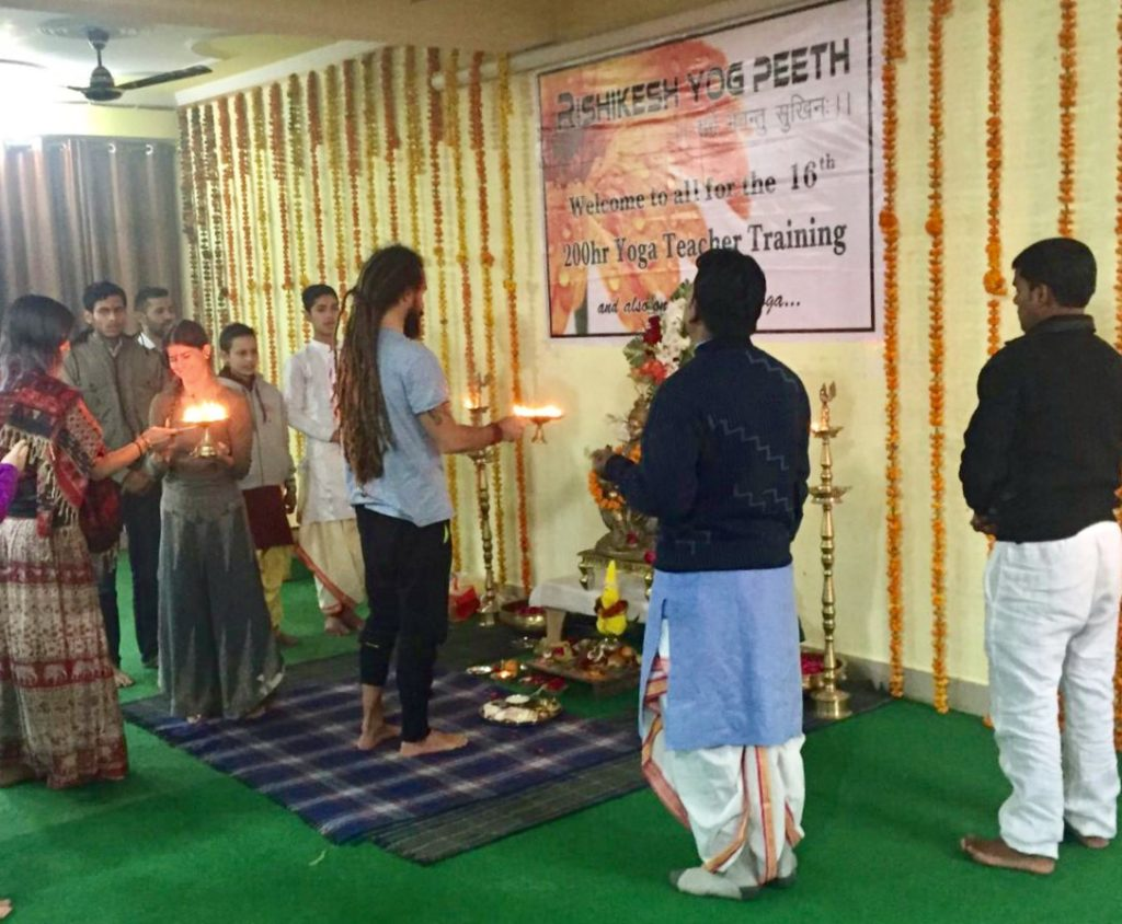 Puja at Rishikesh Yog Peeth
