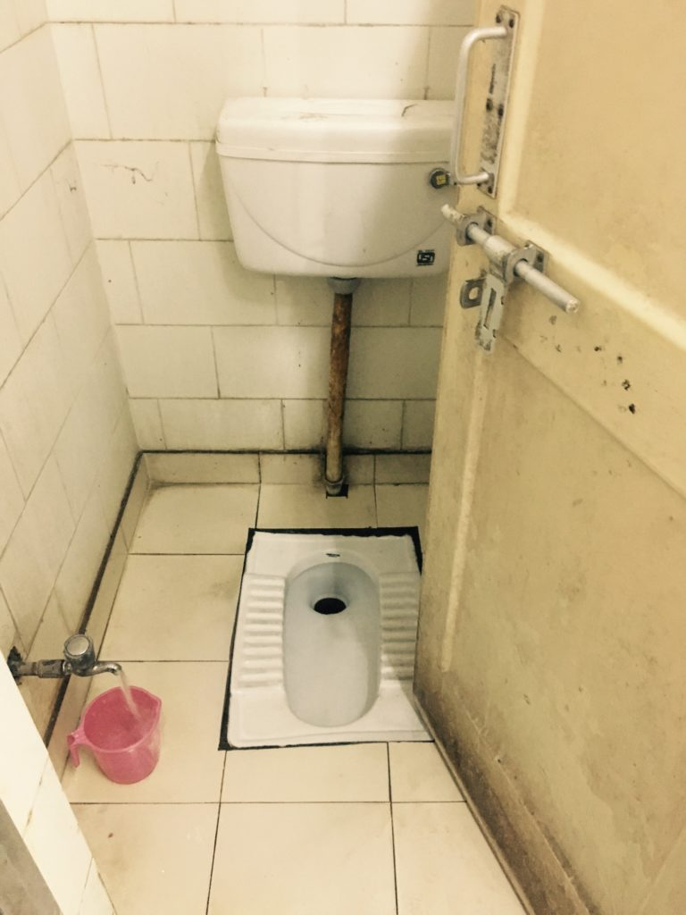 Typical Indian Squat Toilet