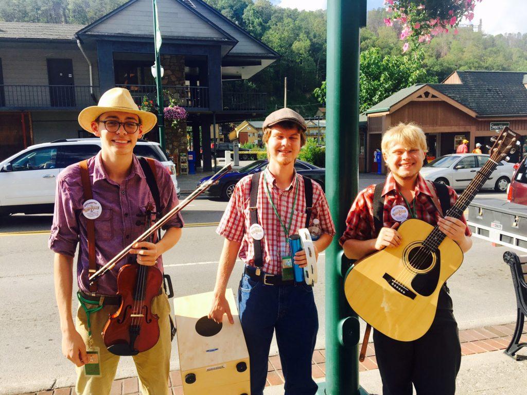 Street entertainers in Gatlinburg, Tennessee