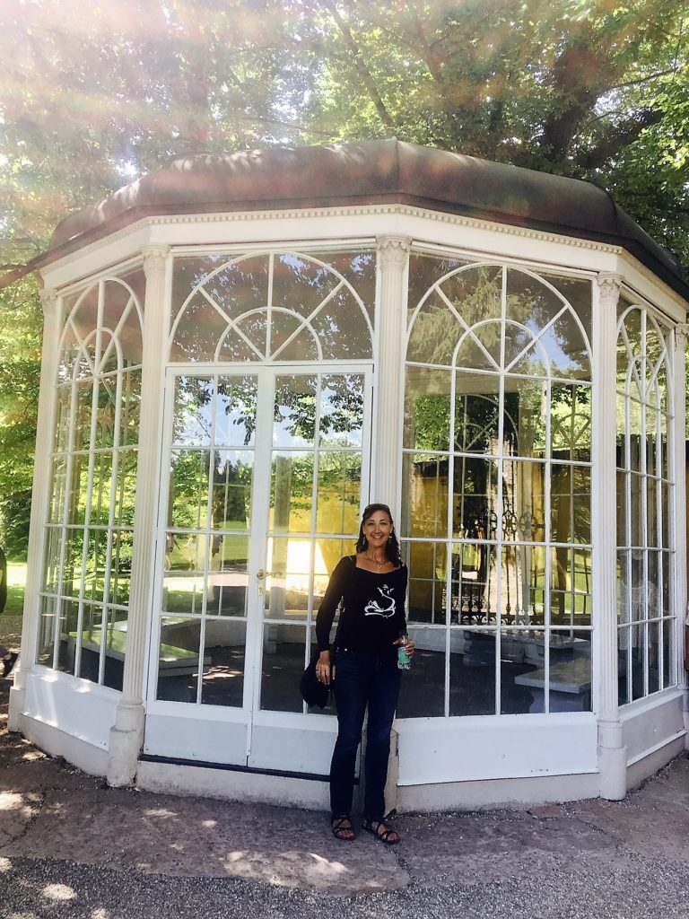 The famous gazebo in the Sound of Music