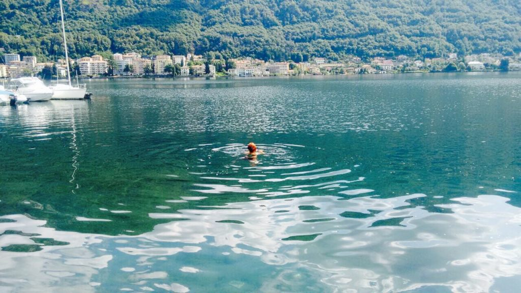 Me swimming in Lake Orta