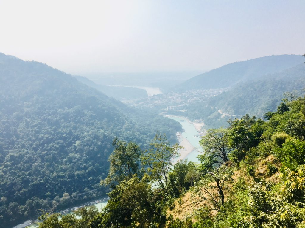 Air pollution above Rishikesh
