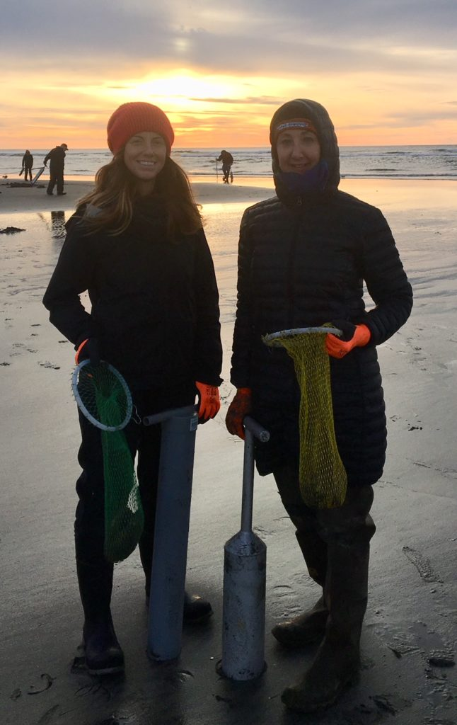 Me and my daughter razor clam digging on NYE