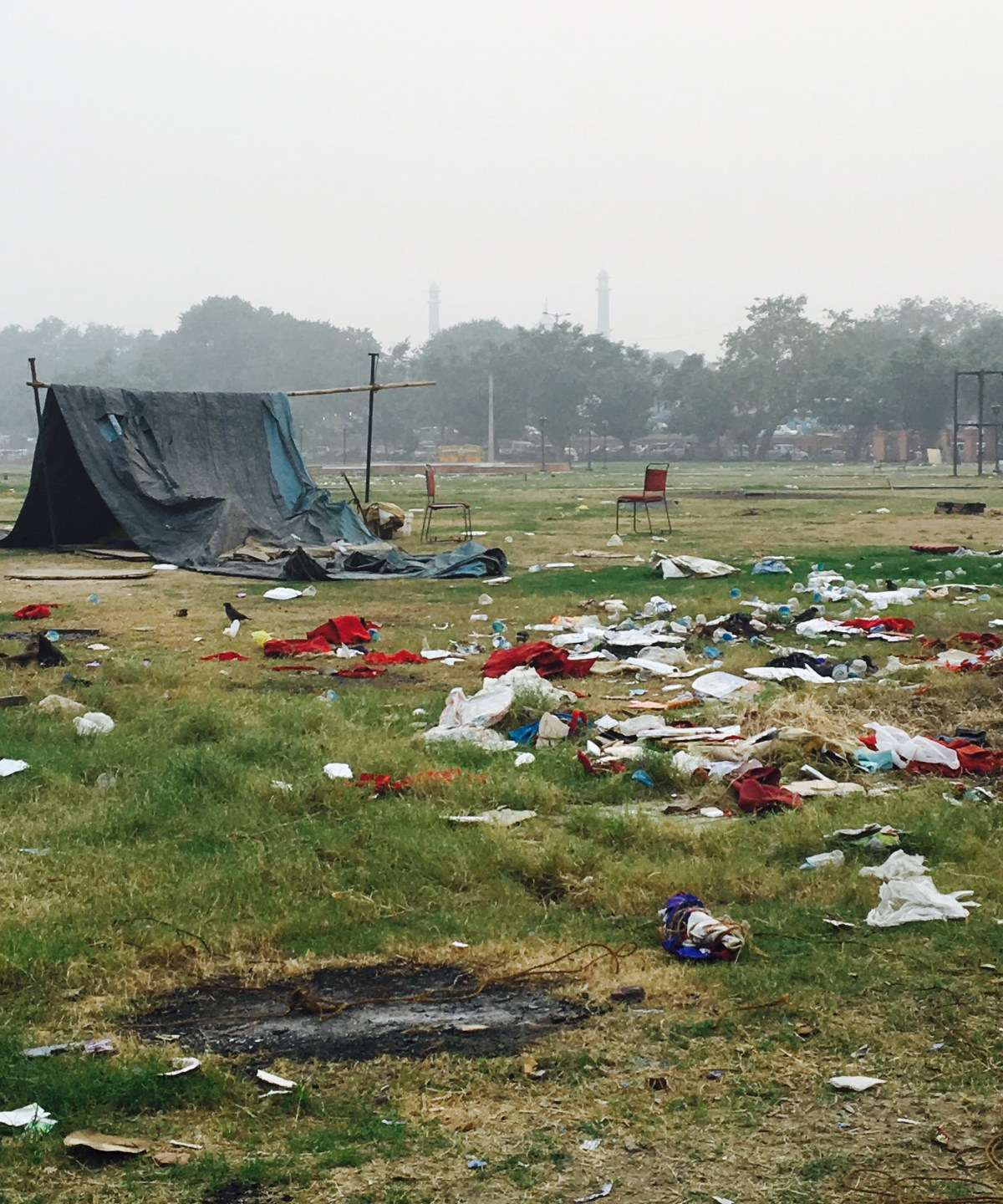 Homeless camp in India