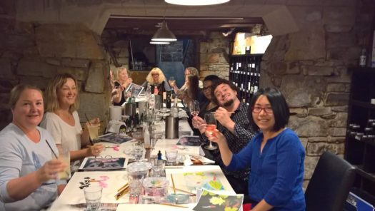 The Journey Studio Paint and Plonk at Sevenhill Hotel 26 Nov 2017