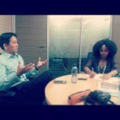 In our four way interview with Erin Pon. Reporter Dineo doing her thing. Photo: Shandukani Mulaudzi