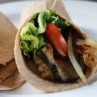 Eggplant Hummus Wraps