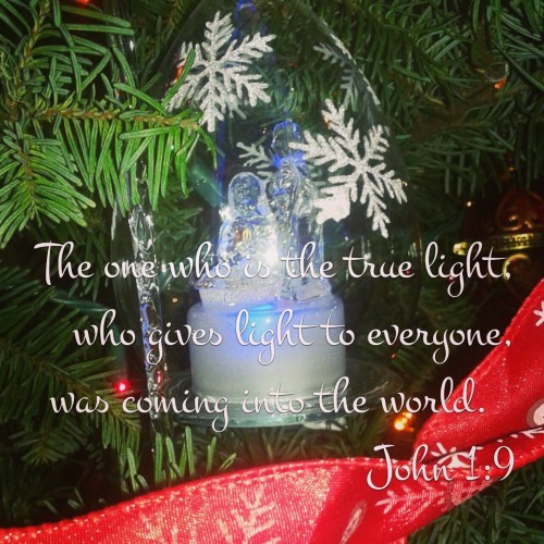 The one who is the true light, who gives light to everyone, was coming into the world. John 1:9