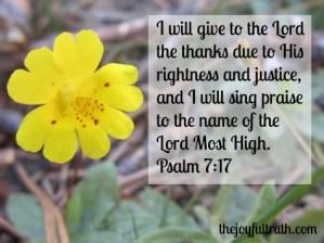 Thankfulness In Need
