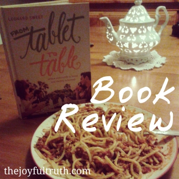Tablet to Table Book Review