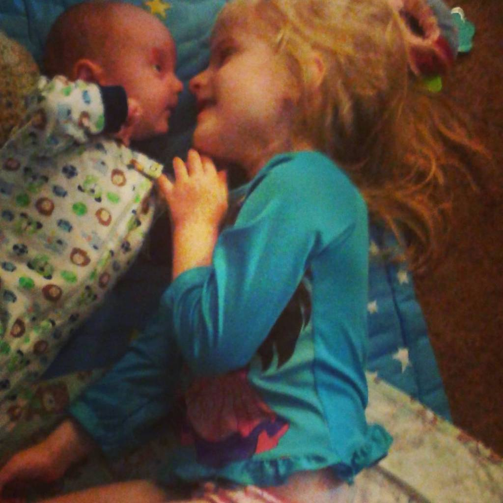 Oh my goodness! lovelife bigsister babybrother love momlife