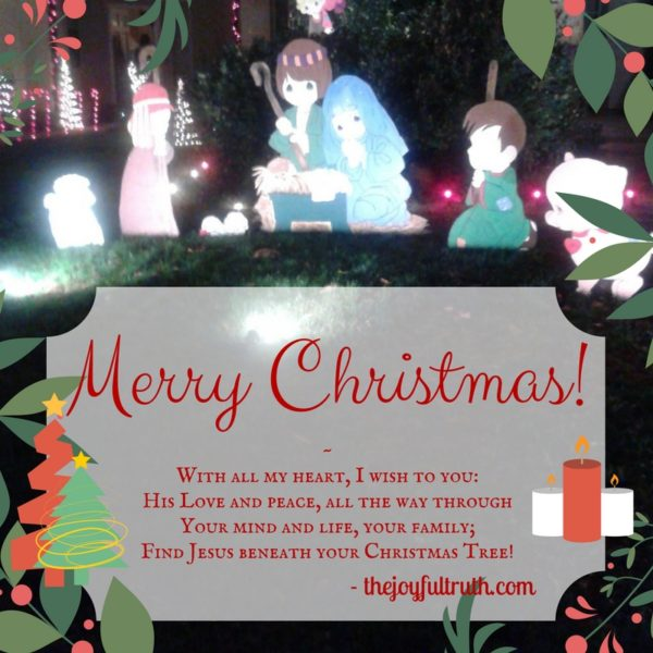 A Christmas Blessing from TheJoyfulTruth.