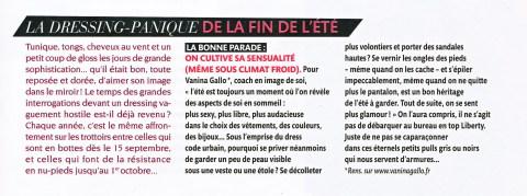 Rentrée sensuelle dans Madame Figaro