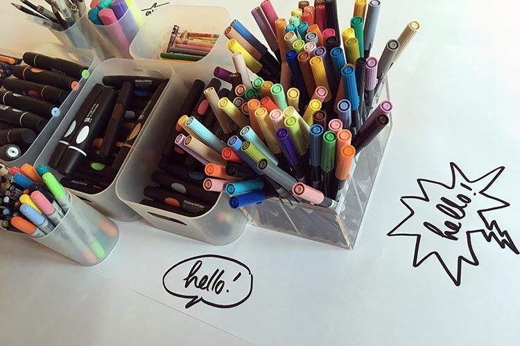 Les crayons de couleurs, un plaisir visuel