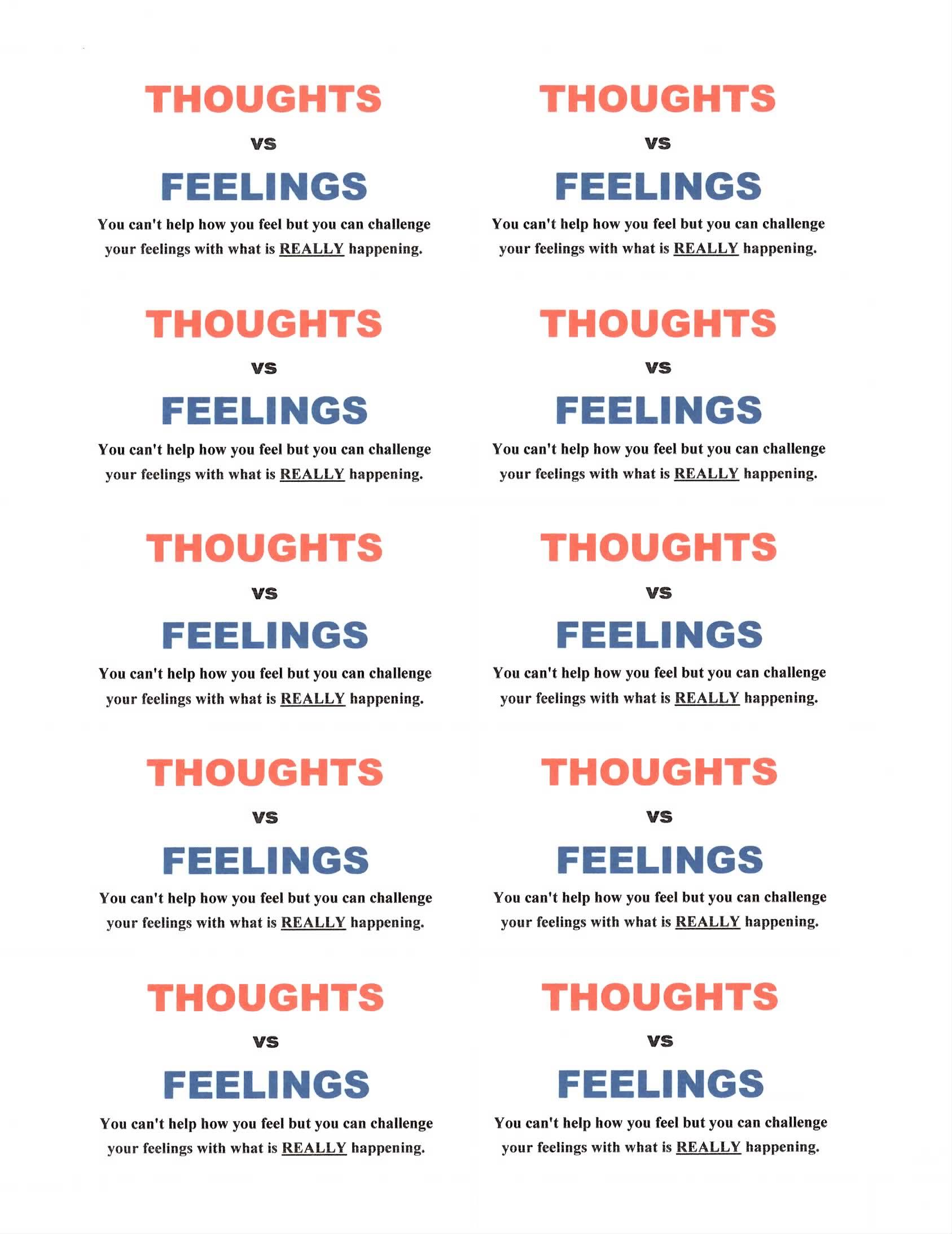 Thought Vs Feelings