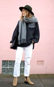 White jeans winter