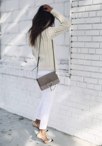 White Jeans cream sweater