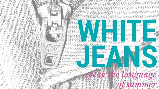 White jeans blog cover
