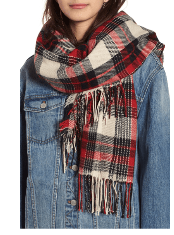 Autumn Fashions plaid scarf