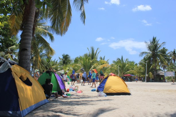 Camping area on Kalanggaman Island. Photo courtesy of Eleazar Cuela.