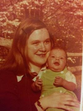 Mom and me.