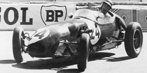 Allison in his Lotus-Climax 12 during the 1958 Monaco Grand Prix