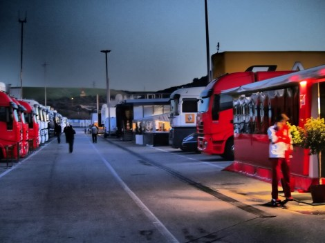 Jerez Pitlane at 7a.m. Jerez Feb 2013