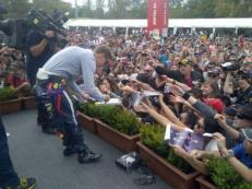 thousands of adoring fans....