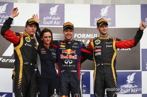 2013 Gulf Air Bahrain GP Podium
