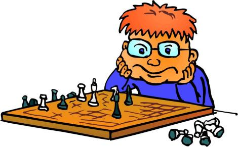 Chess Player - Cartoon