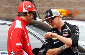 Kimi Raikkonen and Fernando Alonso © Kimi Raikkonen Space