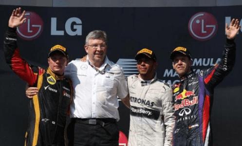 2013 Hungarian Grand Prix Podium © F1 Around The World