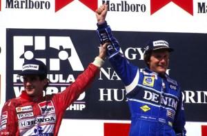 Thierry Boutsen Hungaroring Podium © f1i