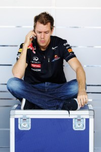 Sebastian Vettel on Phone