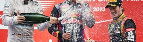Indian GP podium 2013