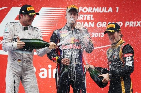 Indian GP podium 2013
