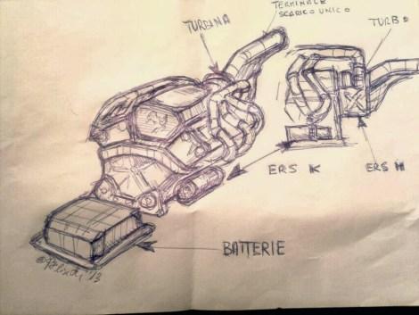 Picture 1 - V6 Ferrari 059/3 sketch, courtesy of Paolo Filisetti