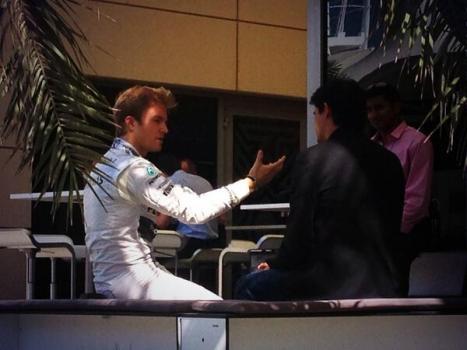 Bahrain - Rosberg doing Media